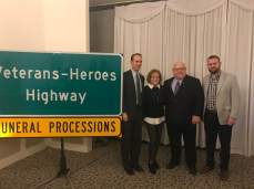 Senator Scott Sifton, Dianne Burne, representative Bob Burns, and Patrick Mulcahy Administration Assistant to Fifth District St. Louis County Councilman Pat Dolan.