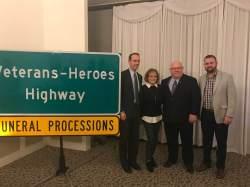 Senator Scott Sifton, Dianne Burne, representative Bob Burns, and Patrick Mulcahy Administration Assistant to Fifth District St. Louis County Councilman Pat Dolan.