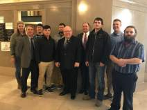 Apprentices and Business Agents with SMART, the Sheet Metal Workers Union, stopped by Bob's office