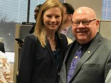 Missouri Auditor Nicole Galloway and Bob.