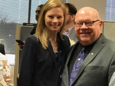 Missouri Auditor Nicole Galloway and Bob.